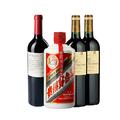 【已售罄】【茅台臻品组合】53度飞天茅台*1+露蒂尼安德鲁吉雅41号干红葡萄酒 * 1+ 帕洛美城堡红葡萄酒*2