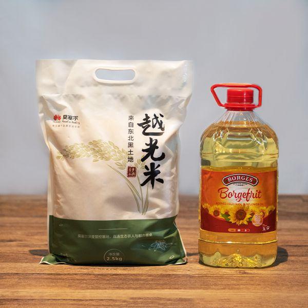 【米油组合】越光米2.5kg+葵花籽油3L