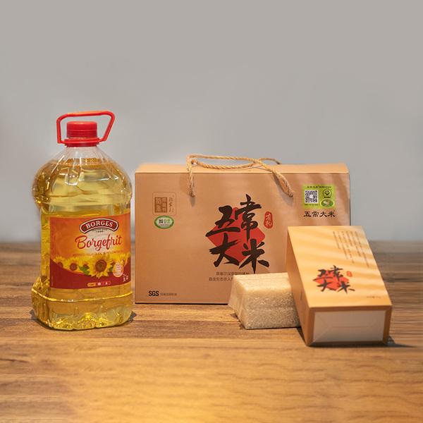 每月宅配:五常大米+葵花籽油