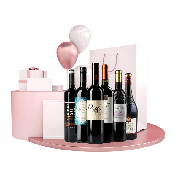 四周年纪念酒款(威尔德斯红+贝加公爵红+风华+罗纳+黛丝+唐克里斯)