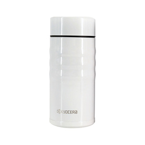 京瓷陶瓷保温杯 白色旋盖款350ml