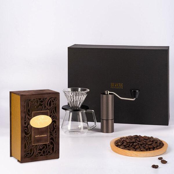 咖啡套装组合(麝香猫咖啡豆+手冲器具)