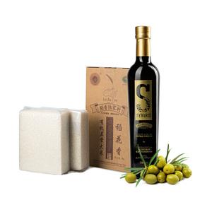 西班牙特级初榨橄榄油*1+五常稻花香5kg礼品装*1
